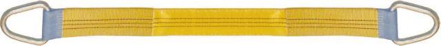 Élingues textiles en sangle plate à anneaux métalliques- CMU: 3T
